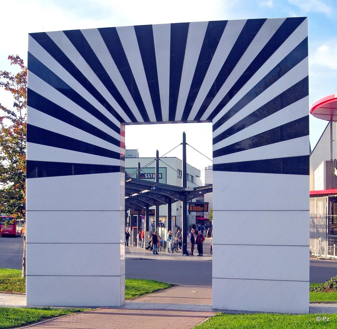 Installation view of La porta di Hattingen, 2010, site-specific installation, Hattingen (Germany)