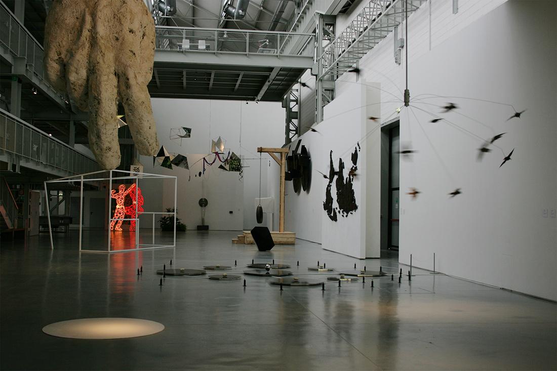 Installation view of La scultura italiana del XXI secolo, curated by Marco Meneguzzo, 20th October 2010-1st January 2011, Fondazione Arnaldo Pomodoro, Milan