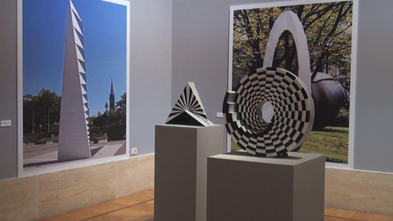 Installation view of Marcello Morandini. Arte Architettura Design, 27th June-28th September 2014, GNAM Rome