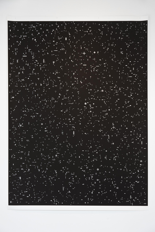 Installation view, Marignana Arte, Collettiva di Aldo Grazzi, Argonauti, 2005, Digital Print