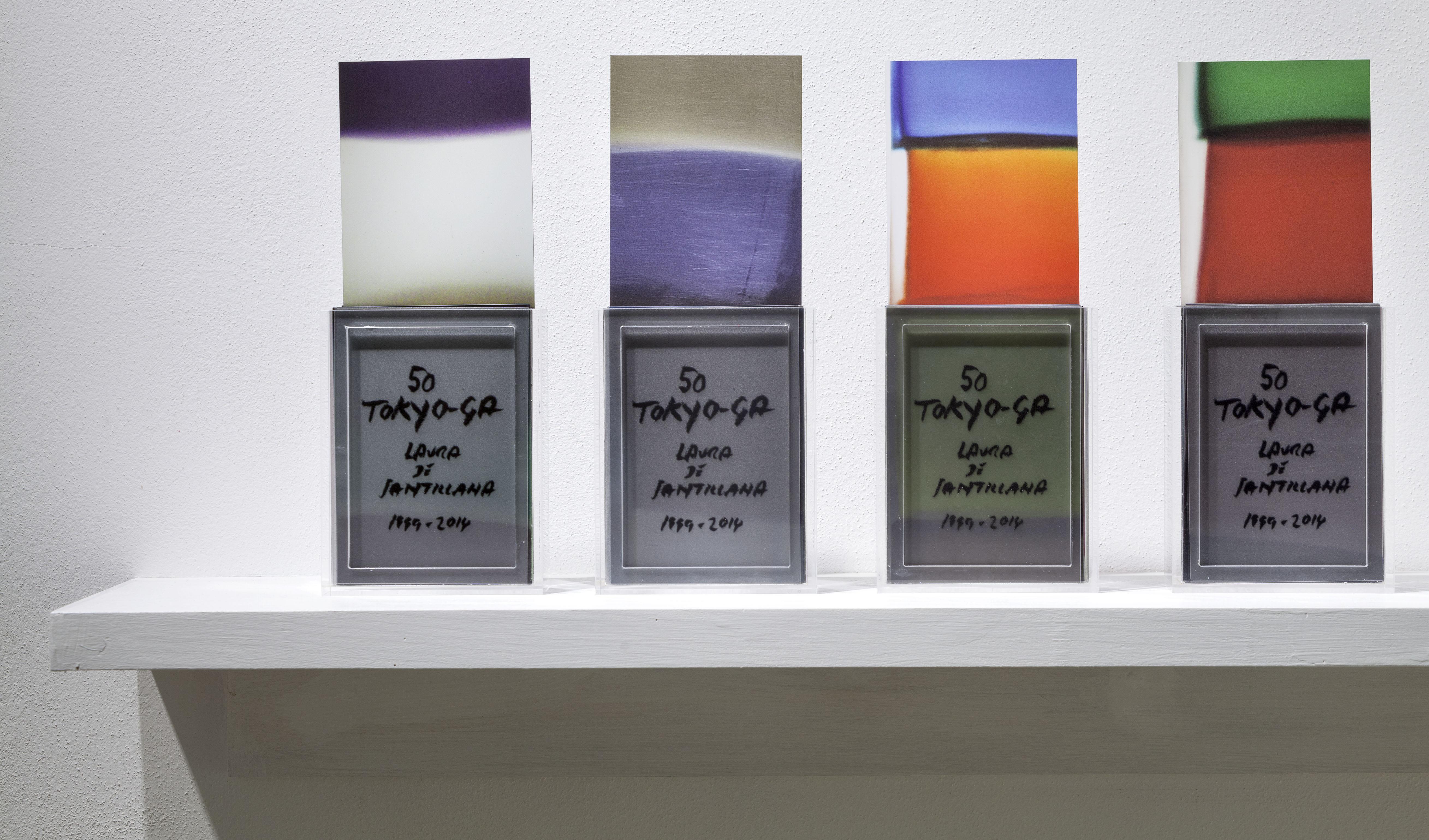 Installation view, Marignana Arte, Hour-Glass, Alessandro Diaz De Santillana & Laura De Santillana, Tokyo-Ga, 2014, Artist's book of 160 foils