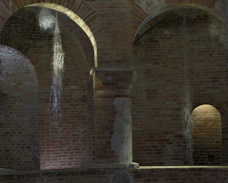 Installation view of I fiorellini di Carla, Rotonda di San Lorenzo, Mantova
