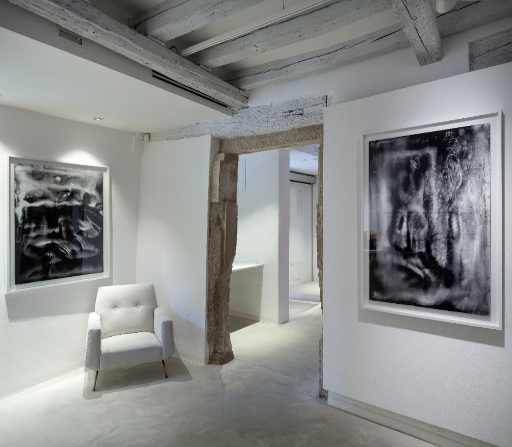 Installation view, Marignana Arte, Hour-Glass, Alessandro Diaz De Santillana & Laura De Santillana, Untitled, 2014, Digital print on Hahnemuhle paper