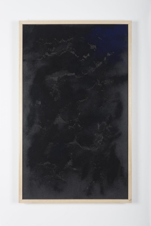 Sophie Ko, Geografia temporale, tetralogia delle stelle fisse IV, 2014, ashes of burned images, pure pigment, 100 x 60 cm