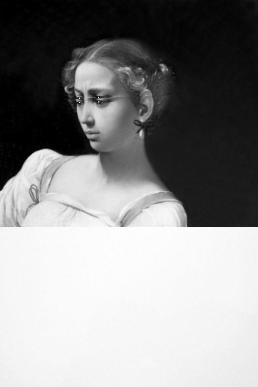 Mariella Bettineschi, L'Era Successiva (Caravaggio, La Giuditta), 2015, direct print on plexiglass, 120 x 80 x 2 cm