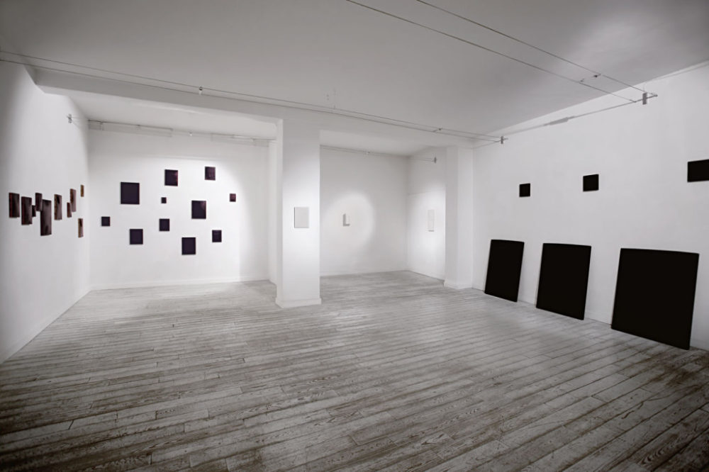 Installation view of Heart Modulation III: Mats Bergquist, Walter Cascio, Dado Schapira (group show), June 2015, Milan