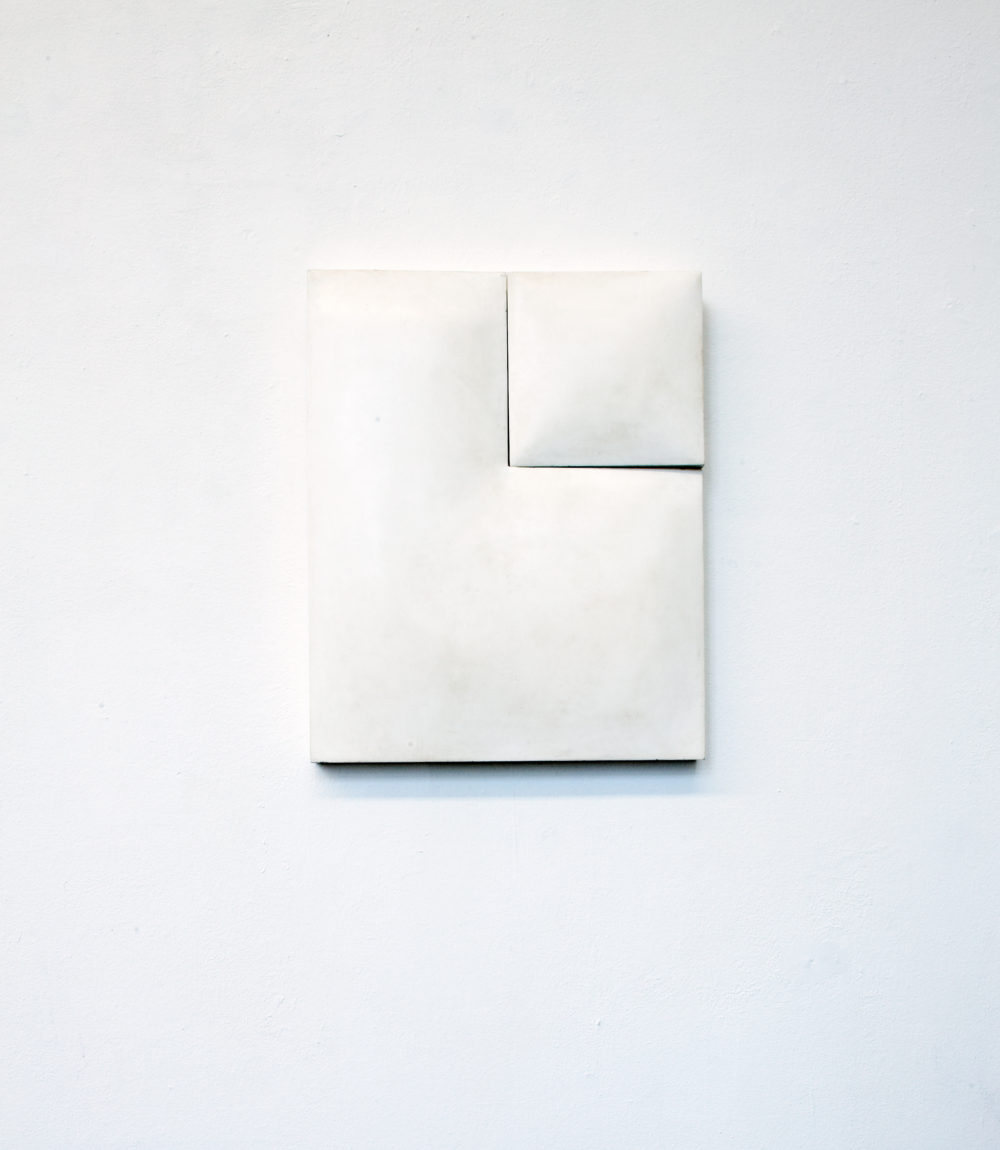 Mats Bergquist, Broken Monochrome, 2014, encaustic on wood, 62 x 50 cm