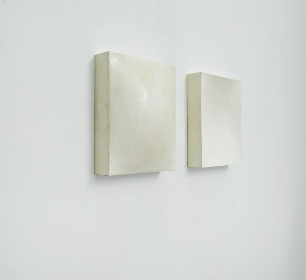Mats Bergquist, Concav Convex, 2014, encaustic on wood, each 34 x 27 cm