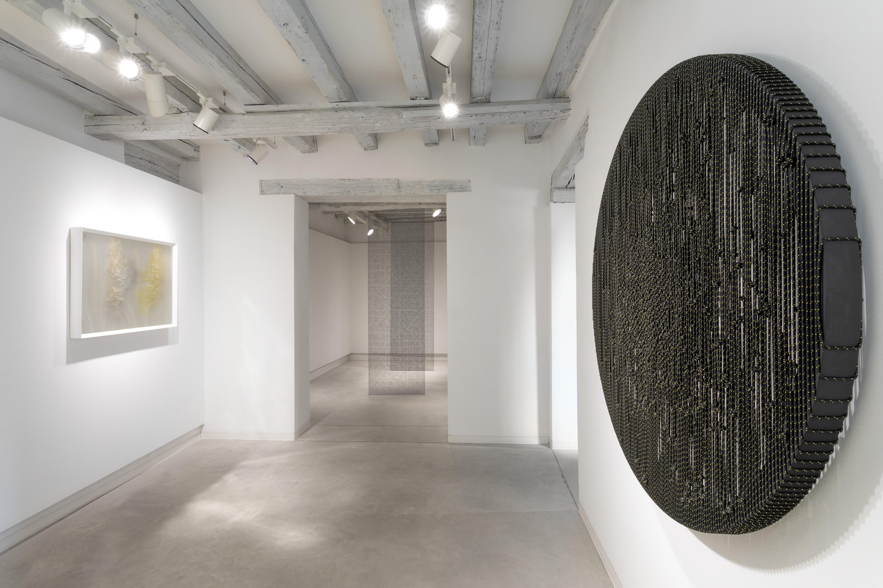 installation view of The Hidden Dimension, Chapter II, Maurizio Donzelli, Arthur Duff, Aldo Grazzi